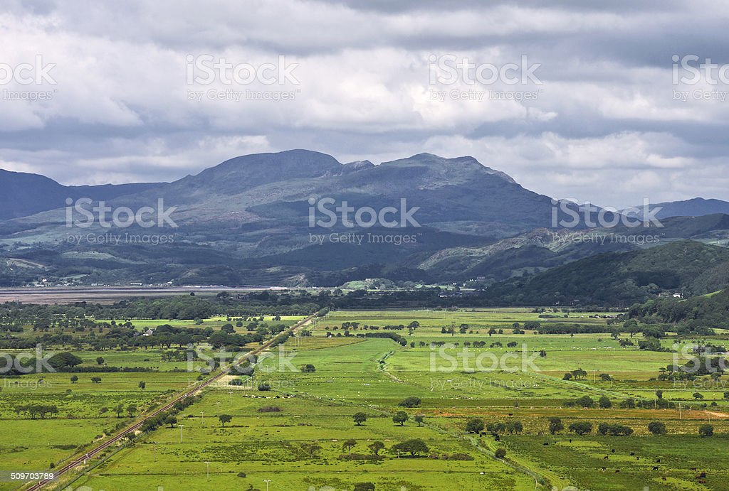 Welsh Country Scene stock photo