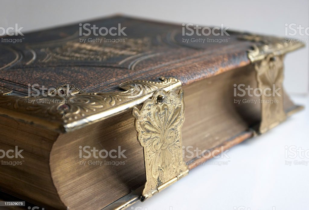 Welsh family bible stock photo