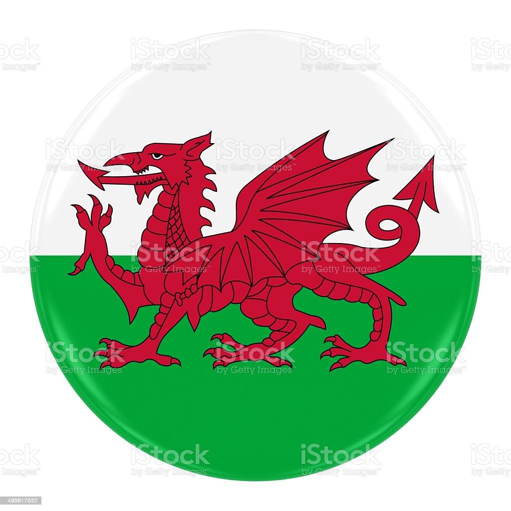 Welsh Flag Badge stock photo