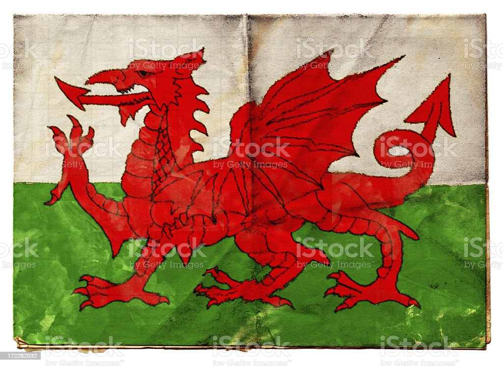 Welsh flag (XXL) royalty-free stock photo