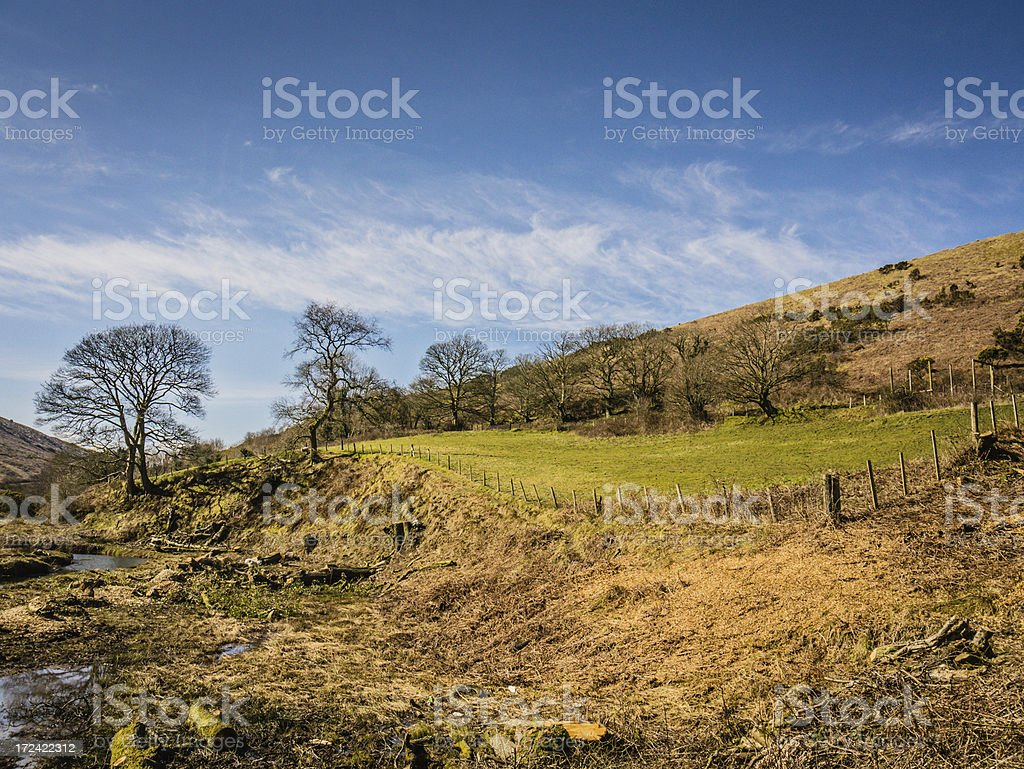 Welsh moorland countryside royalty-free stock photo