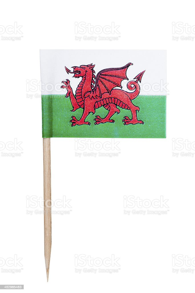 Welsh paper flag royalty-free stock photo
