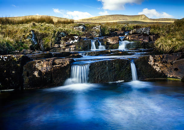 Welsh river on edge of the Brecon Beacons Welsh river on edge of the Brecon Beacons brecon beacons stock pictures, royalty-free photos & images