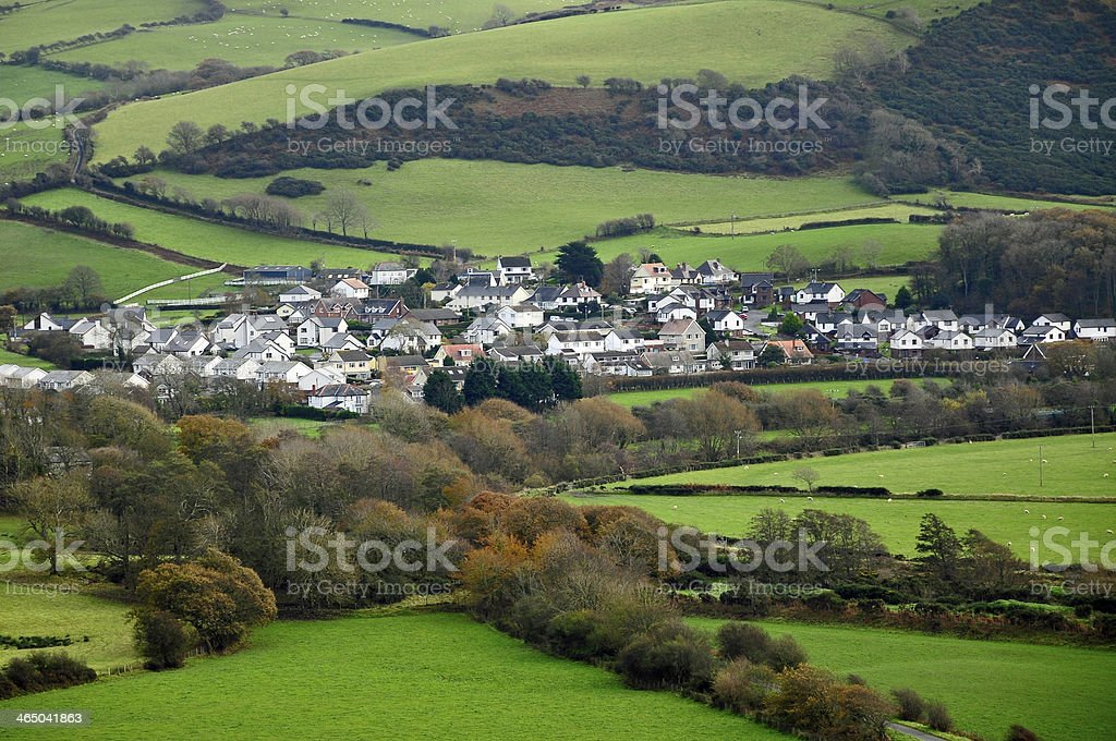 welsh town stock photo