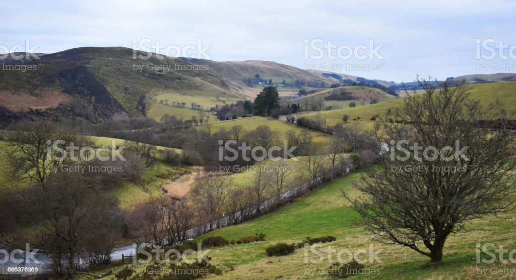 Welsh View stock photo