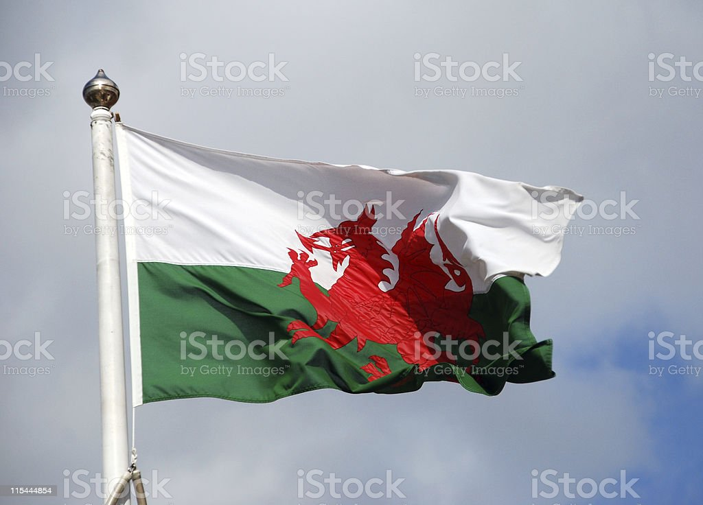 Welsh Wales Flag royalty-free stock photo
