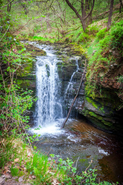 Welsh waterfall on edge of the Brecon Beacons Welsh waterfall on edge of the Brecon Beacons brecon beacons stock pictures, royalty-free photos & images
