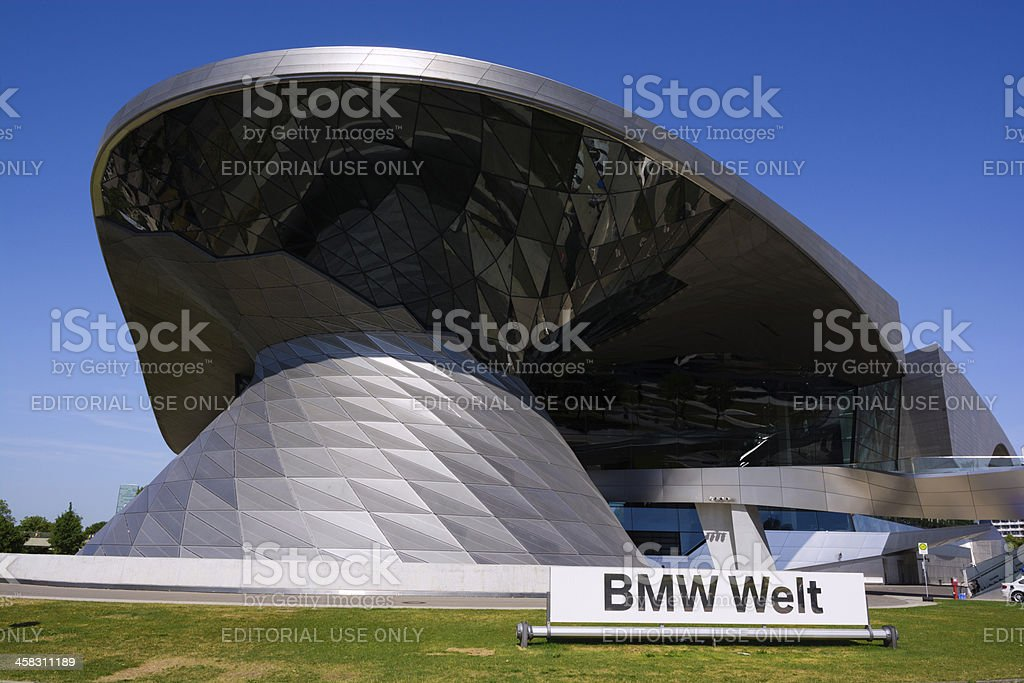 BMW Welt in Munich, Germany royalty-free stock photo