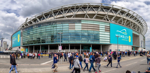 Wembley stadium, London stock photo