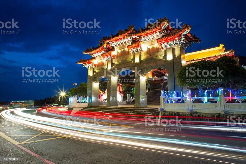 wen wu temple stock photo