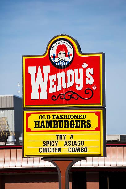 Wendy's Restaurant Signage stock photo