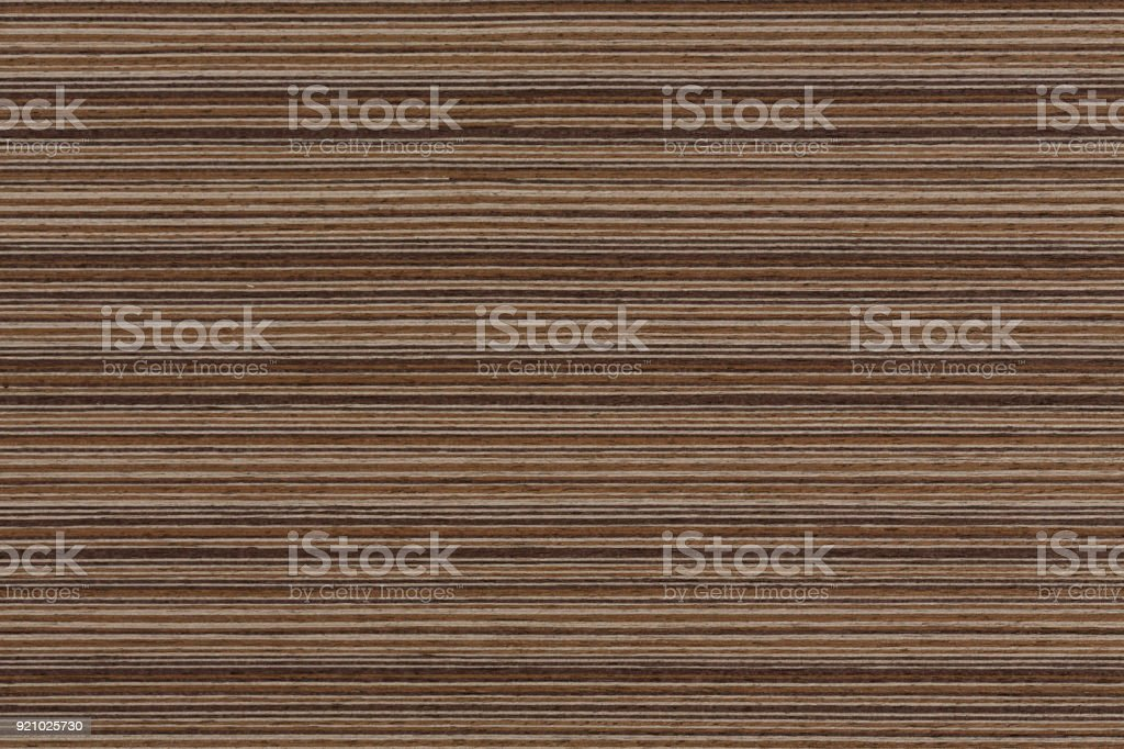 Wenge veneer, natural wooden background stock photo