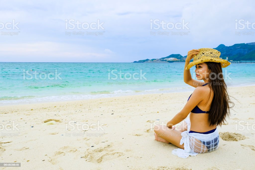 went on a trip until a different family of a born country came to the sea. royalty-free stock photo