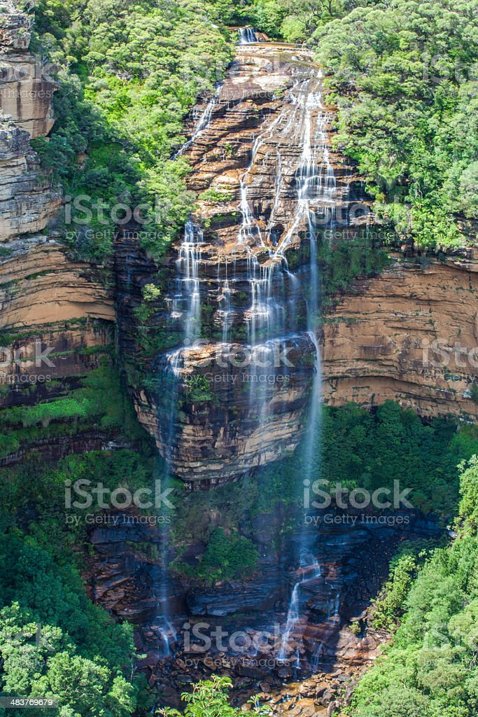 Wentworth falls, Blue Mountains, Australia stock photo