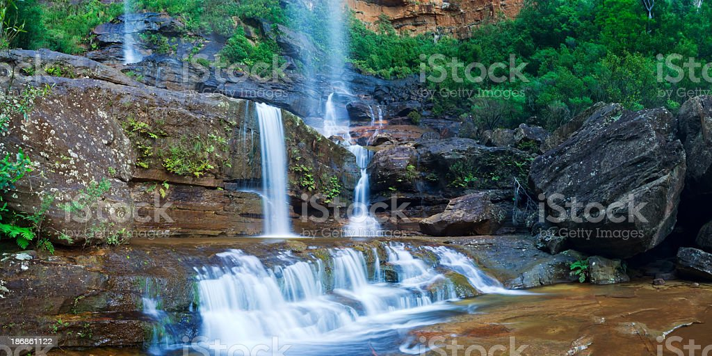 Wentworth Falls in the Blue Mountains, New South Wales, Australia royalty-free stock photo
