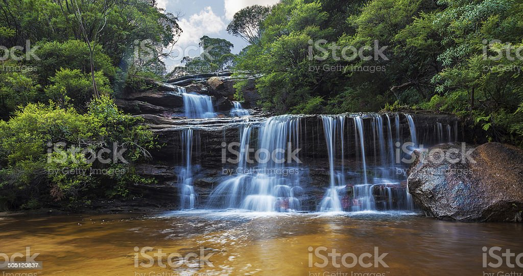 Wentworth falls, upper section Blue Mountains, Australia stock photo