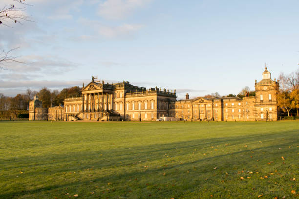 wentworth woodhouse stately home 17th nov 2017 - yorkshire meridionale foto e immagini stock