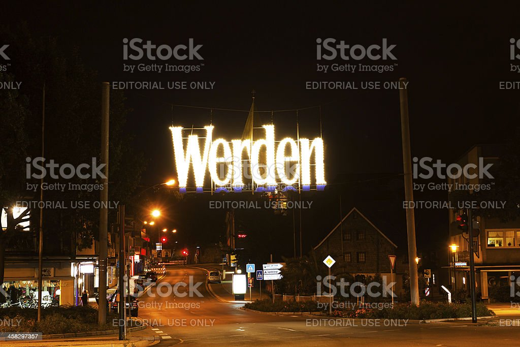 Werden at night royalty-free stock photo