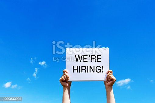istock We're are hiring announcement 1090830904