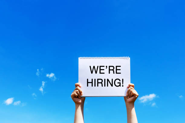 We're are hiring announcement Help Wanted Sign, Occupation, Recruitment, People, Opportunity help wanted sign stock pictures, royalty-free photos & images