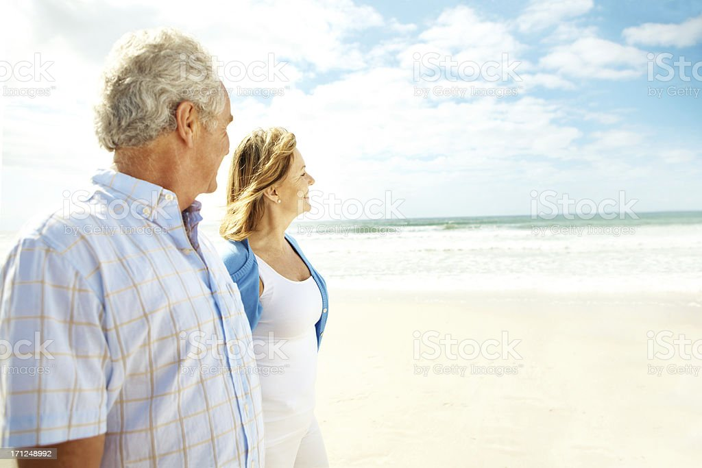 We're enjoying our retirement together royalty-free stock photo