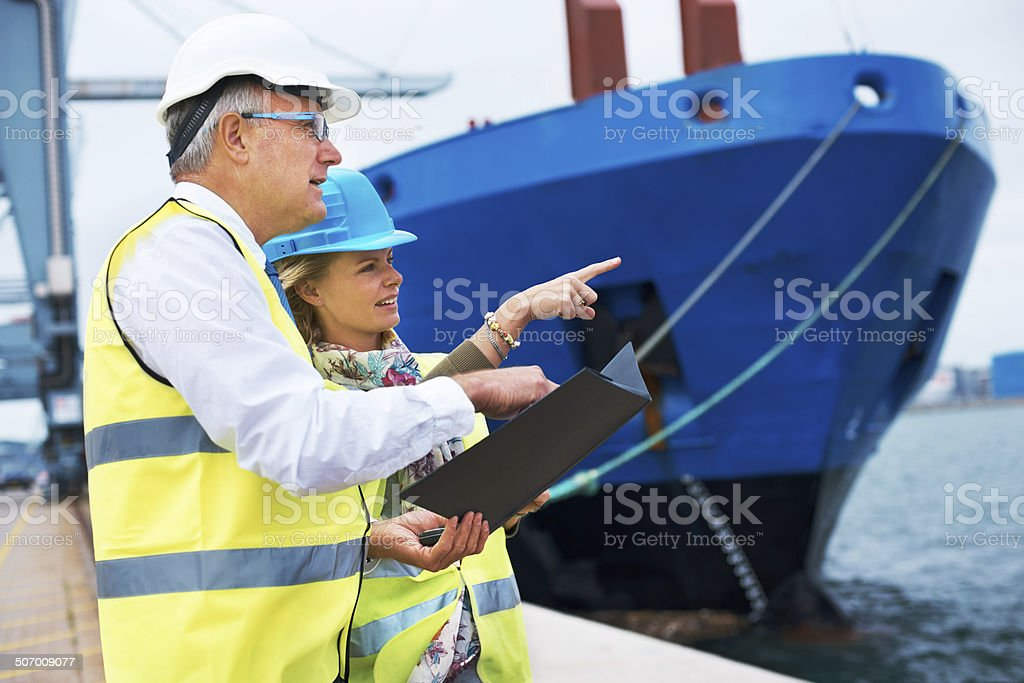 We're focused on well-planned cargo management stock photo