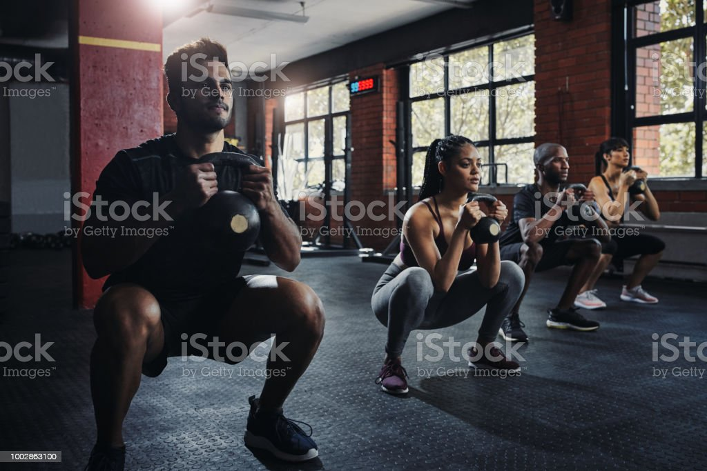 We're getting stronger together stock photo