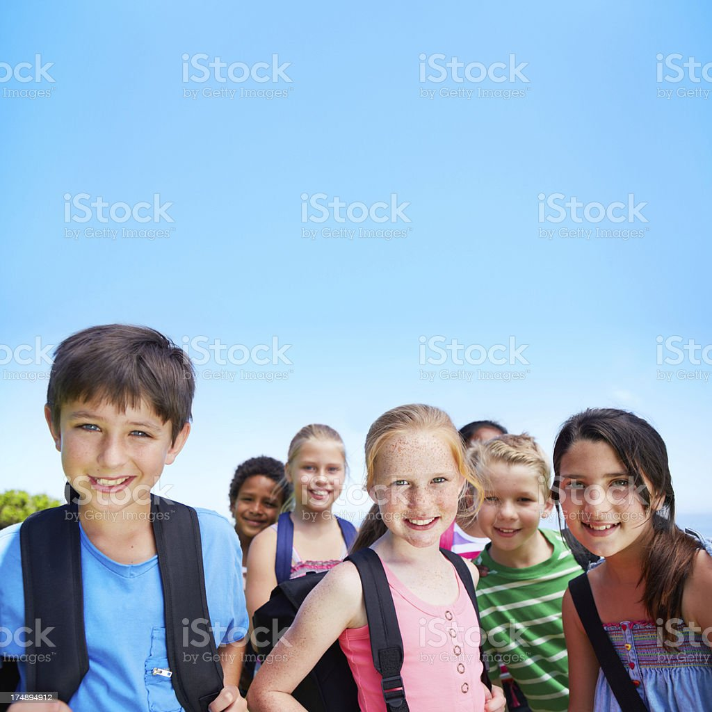 We're going on an outing royalty-free stock photo