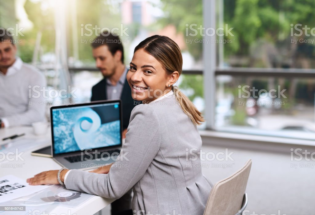 We're here for one thing and that's success stock photo