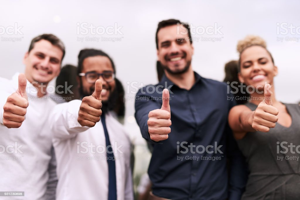 We're here to back you up! stock photo