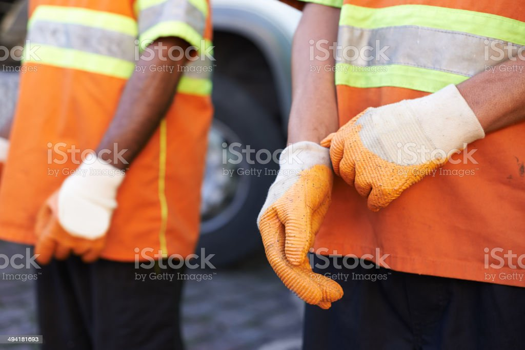 We're here to keep your city clean stock photo