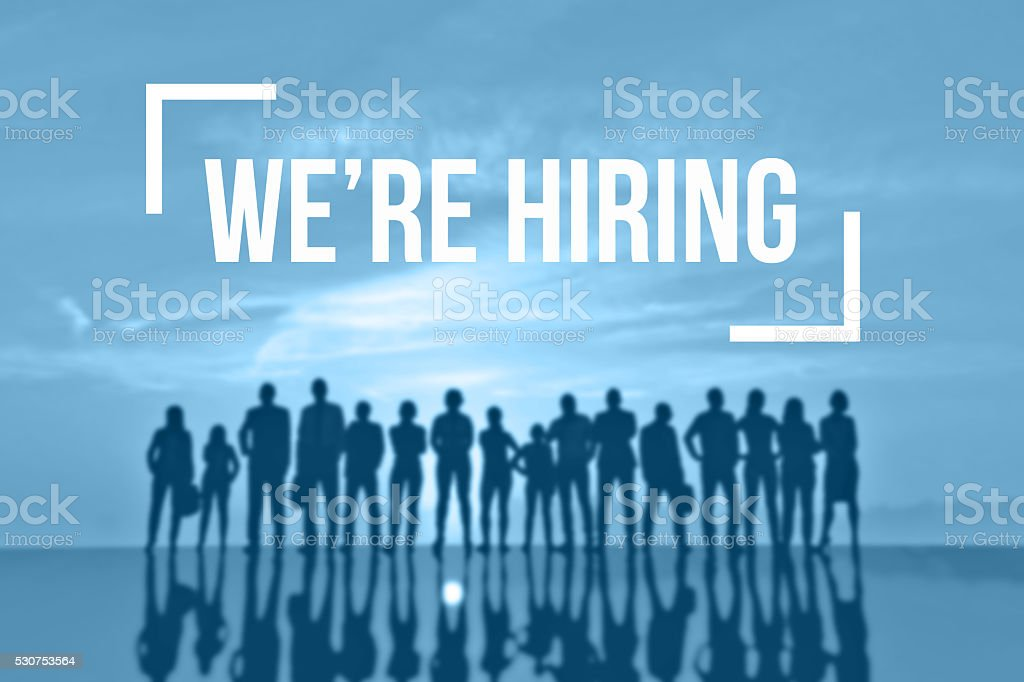 We're hiring recruitment concept stock photo