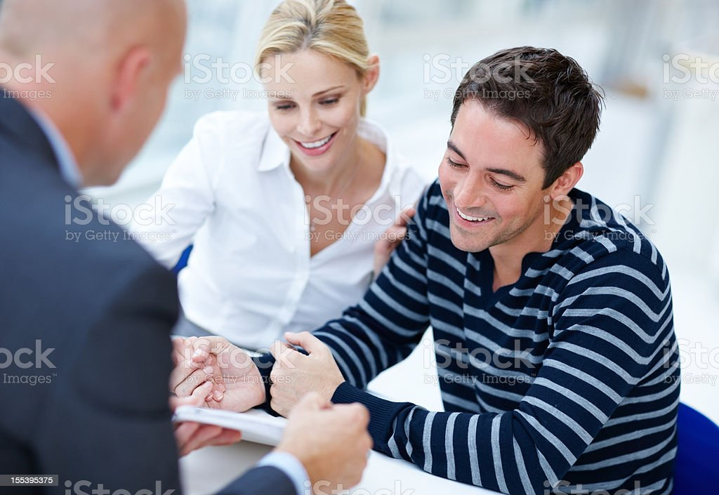 We're in great financial shape! stock photo