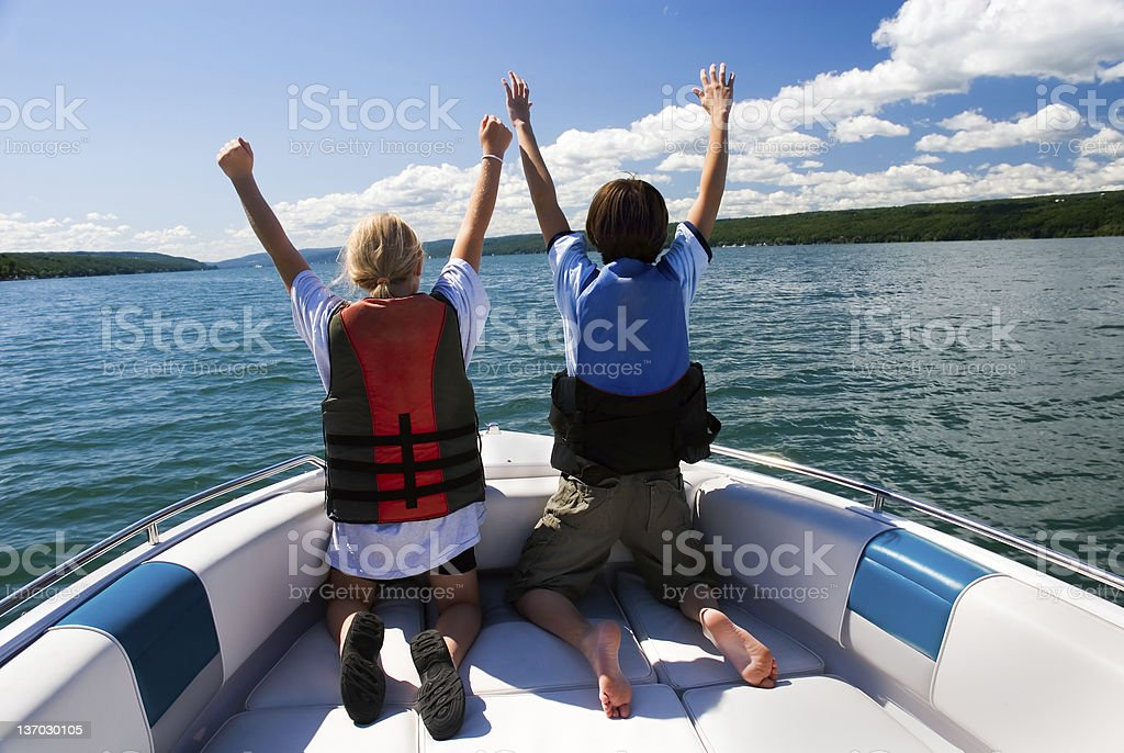 We're King and Queen Of The World royalty-free stock photo