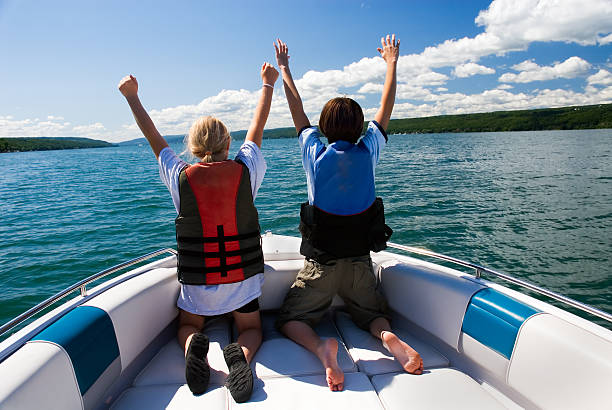 We're King and Queen Of The World stock photo