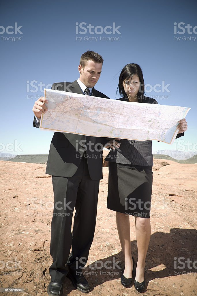 We're Lost stock photo