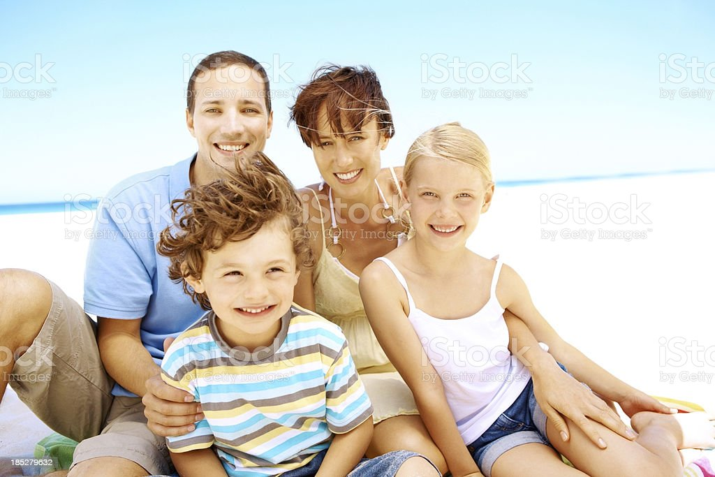 We're on our dream vacation royalty-free stock photo