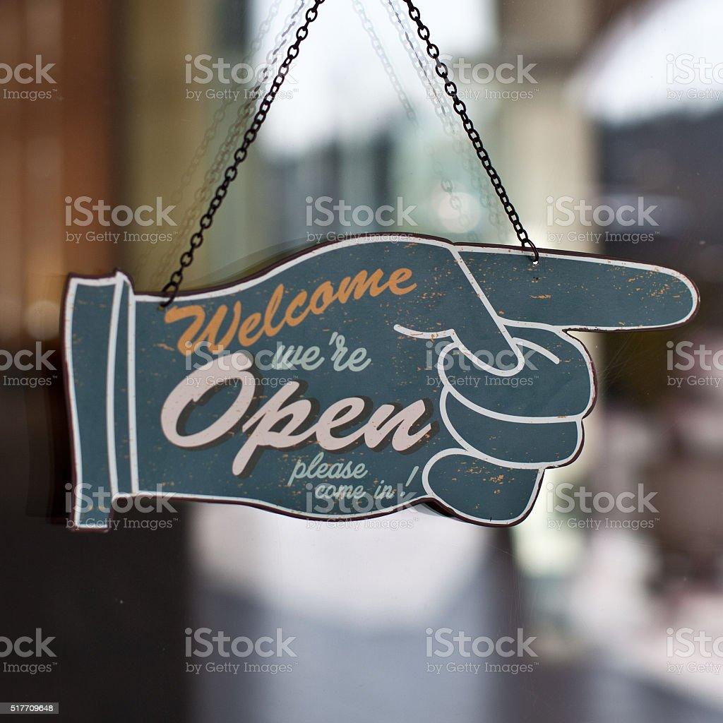 we're open stock photo