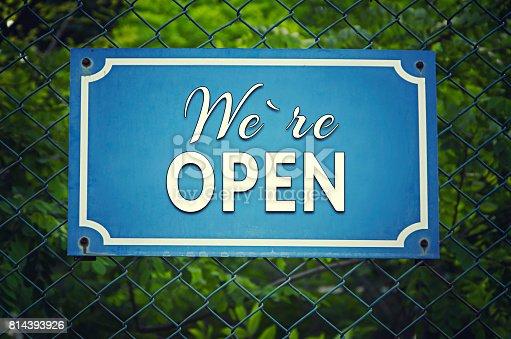 istock We're Open Sign 814393926