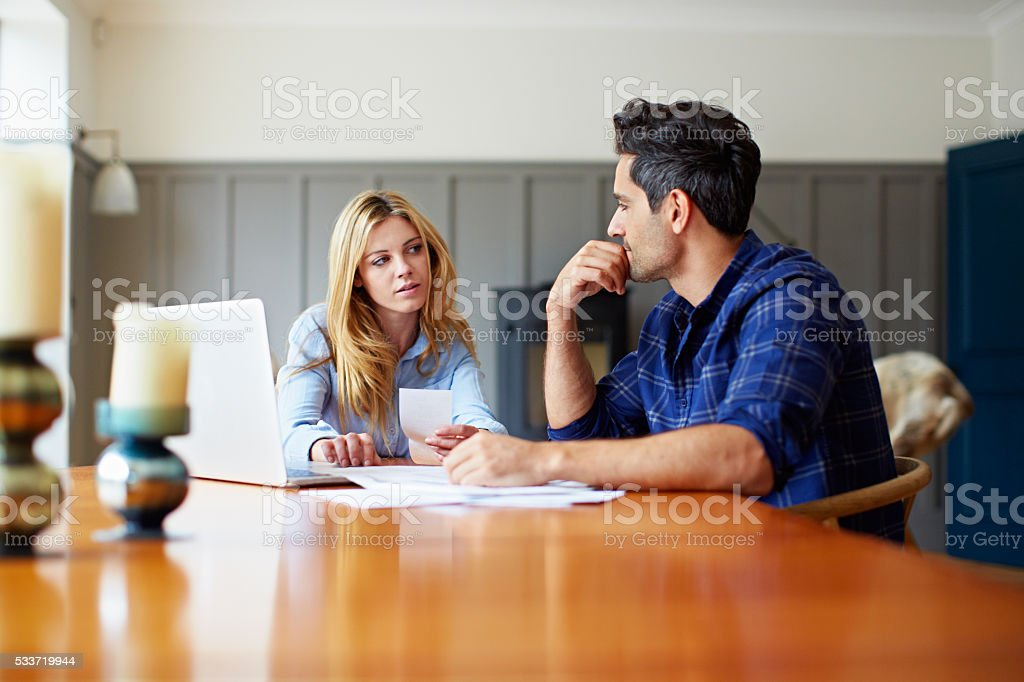 We're over budget this month... stock photo