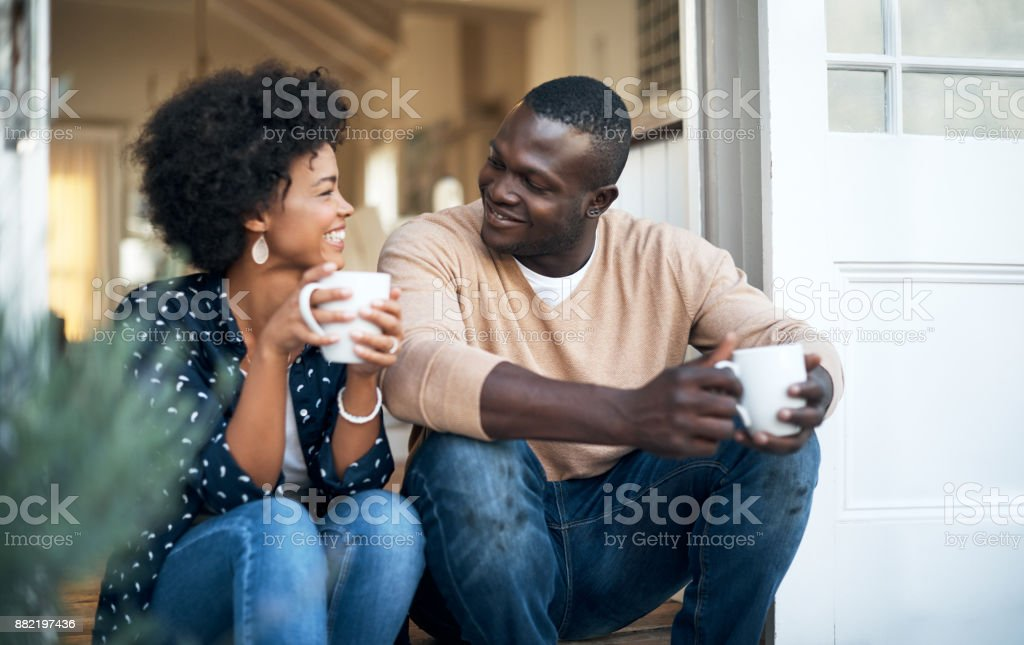 We're so comfortable with each other stock photo