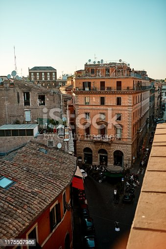 Shot of a residential area in Rome, Italy