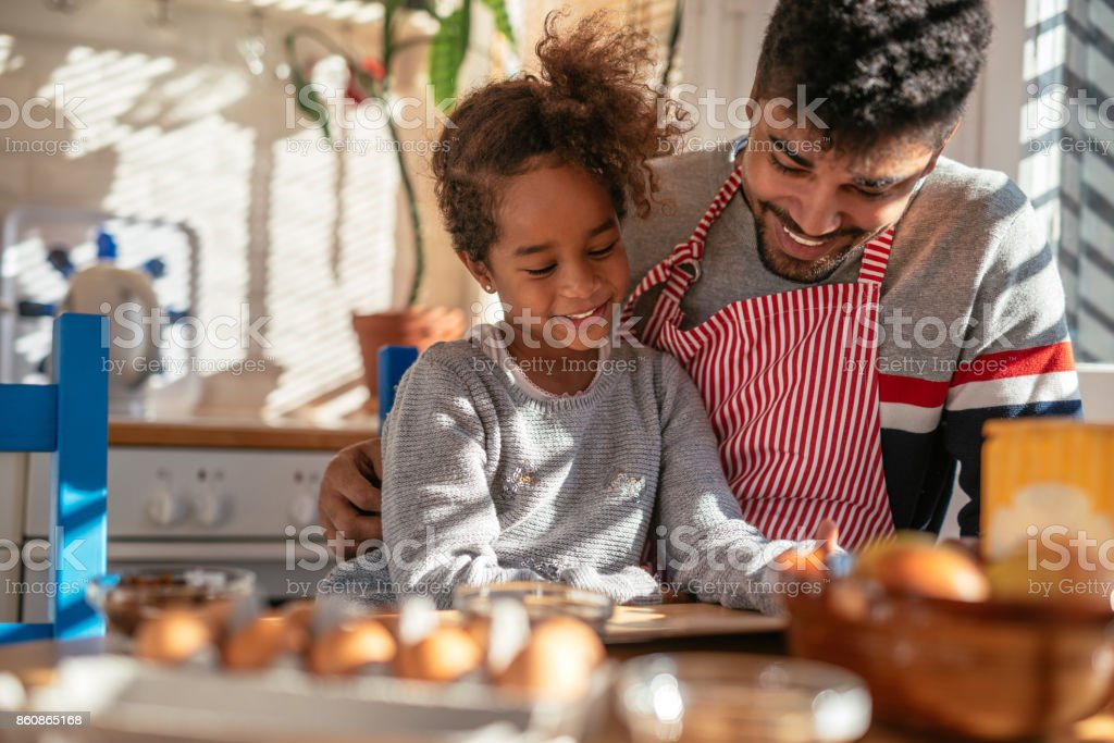 We're the best baking team ever! stock photo