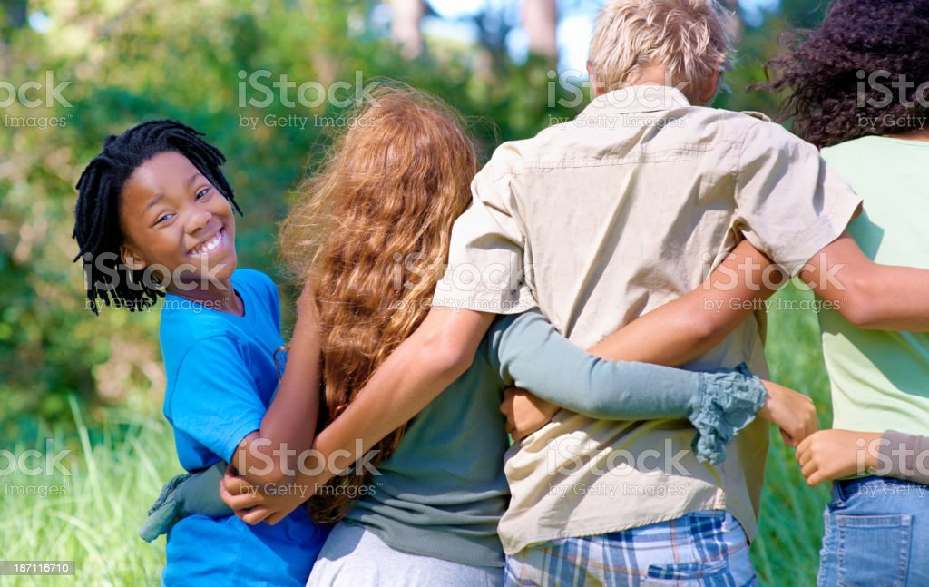 We're the best of friends! stock photo