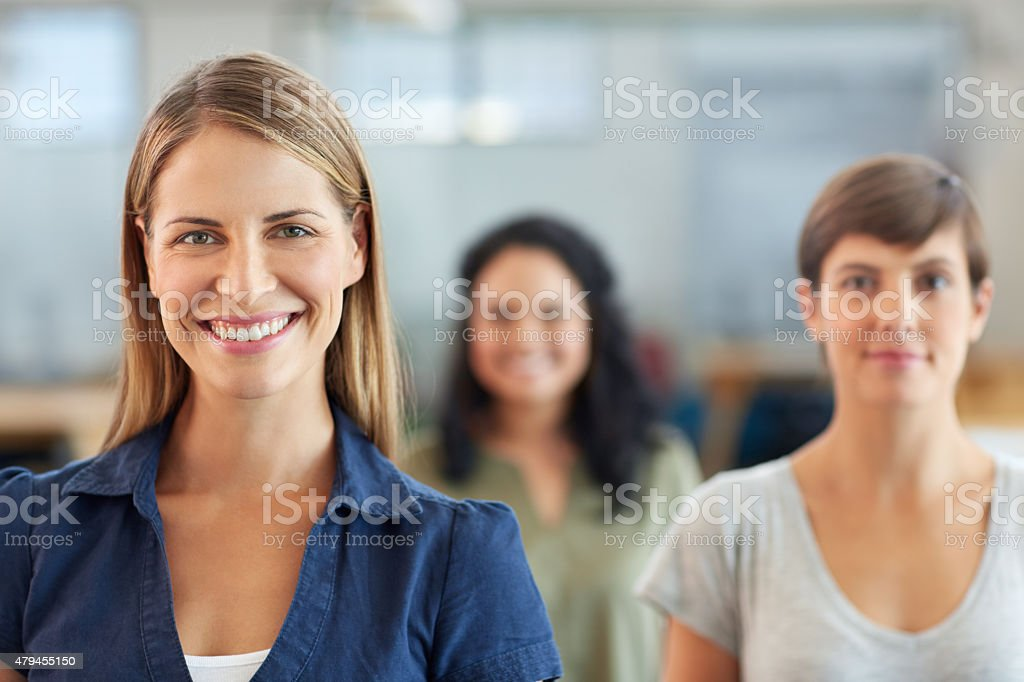 We're the team you've been looking for royalty-free stock photo