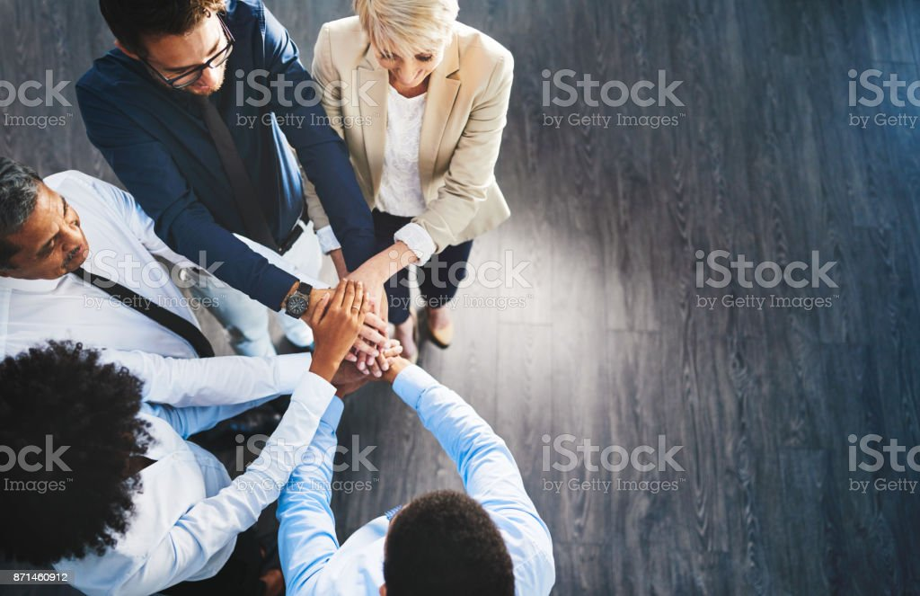 We're unstoppable when we stand together stock photo