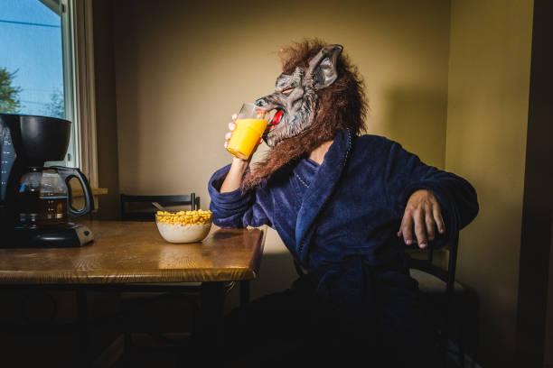 Werewolf man eating breakfast on a lazy weekend morning picture id1063942148?b=1&k=6&m=1063942148&s=612x612&w=0&h=vtdcmwsfij0663o2qbqythfcxqvk74rypkaqpbprg6y=