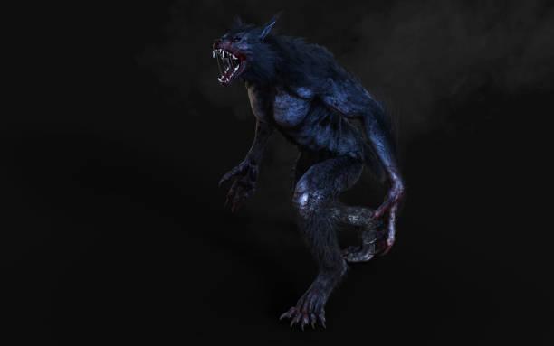 Een weerwolf op donkere achtergrond foto