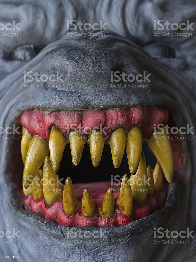 Werewolf teeth (Carnival Mask) stock photo