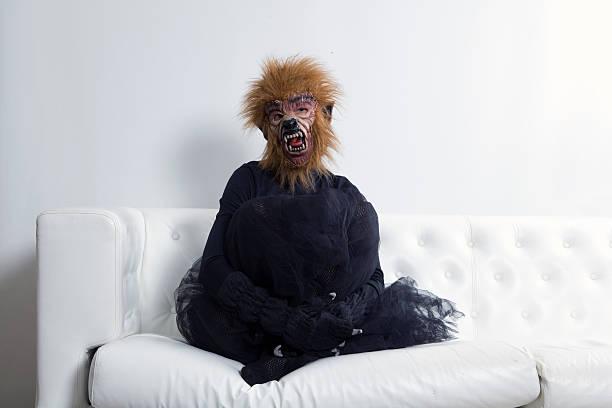 werewolf woman tutu - mascotte photos et images de collection